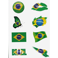 Brazilian Temporary Tattoo 8 Tattoos