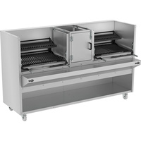 DOUBLE CHARCOAL PARRILLA STEAK GRILL WITH MANUAL LIFT SYSTEM - 640 SERIES