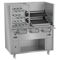 Charcoal or Wood Fired Rotisserie with Grill- Super 350 Series