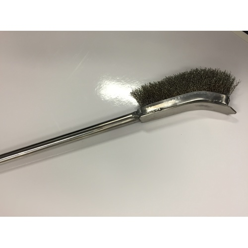 Cleaning brush with scraper for grill