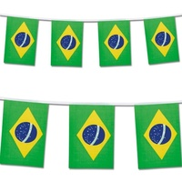 Beautiful String of Brazilian Flags (20 Bandeirinhas de tecido)