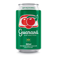 Sugar Free Guarana Antarctica Zero Can - 350ml