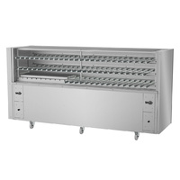 Charcoal Rotisserie with Removable Side Lifting Electric Lift Grill