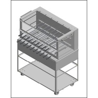 Light Commercial Charcoal Mobile Catering Rotisserie