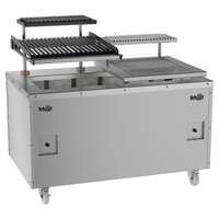 Open Style Charcoal Wood Fired Parrilla Steak & Seafood Grill with Electric Lift- 660 Series