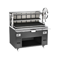 Charcoal Parrilla Grill 695 with wheel lift system for grill