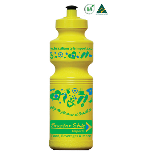 Brazilian Style Water Bottle - BPA Free