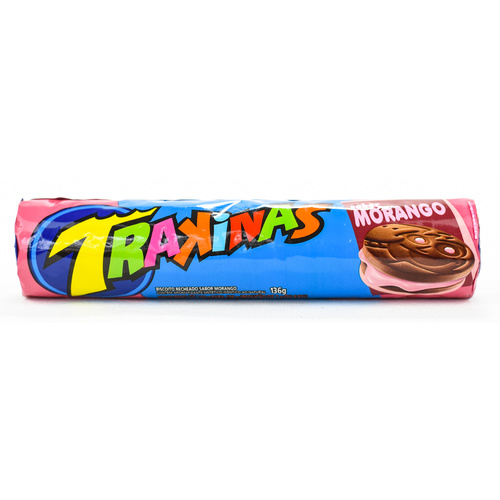 Brazilian Biscuit Trakinas Strawberry