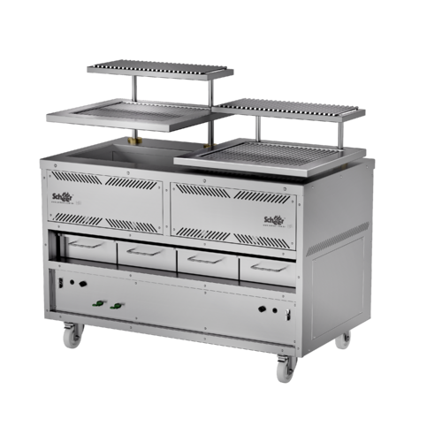 Gas with Lava Rock Parrilla Grill - Open Style 660 series