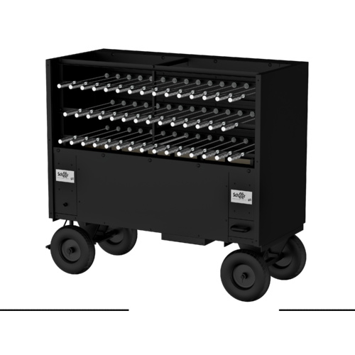 Black Finish Charcoal Mobile Catering Rotisserie